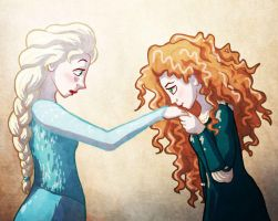 Brave/Frozen: Meeting the princess by sqbr