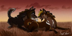 WolfHearts commission by LoupDeMort