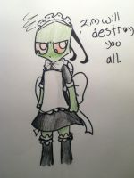 :Request: Zim...in a Maid outfit? by SonicHedgie199