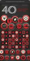 Retro Social Media Icons by gojol23