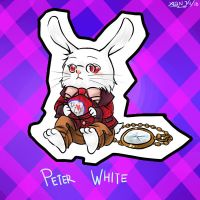 Peter White the Rabbit by christon-clivef