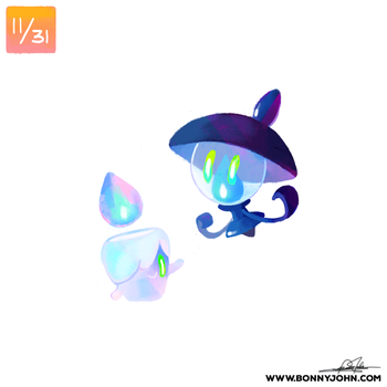 10/11 Litwick and Lampent! by BonnyJohn