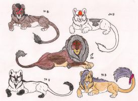Lion Adoptables by Rurouna