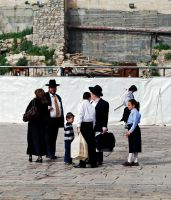 Family at the Western Wall by dpt56