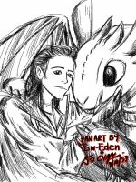 Loki and Toothless by sw-eden
