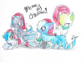 A Christmas Family by redclawtje