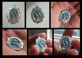 Silver pendant commission by LadyAway