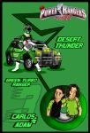 Green Turbo Ranger-Adam and Carlos by DK-DarkKitty