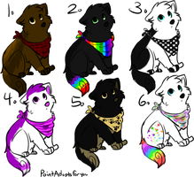 Canine Adoptable Batch OPEN by NightsAdopts