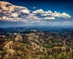 Mt Rushmore from Harney Peak by dkwynia