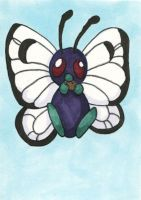 Supernova 2014 ACEO - Butterfree by bittykitty