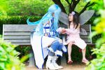 Asuna Playing With Yui [Sword Art Online Cosplay] by firecloak