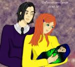 Hp: Severus, lily and baby by Snapepam