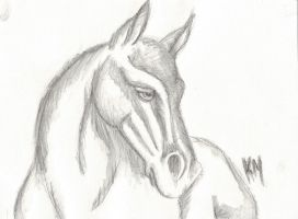 Horse - watercolour 5th attempt by GhirahimsRemlit