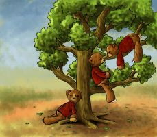 3 bears in a tree by vuurvlam