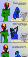 Big Chill, Swampfire and Rule 34 by TeeheeXD