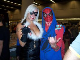 Black Cat and Spiderman - Comic Con 2012 by J25TheArcKing