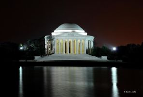Jefferson Memorial at Night by DavidMCoyle
