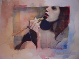 girl Watercolor by oswalddent