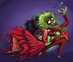 Beetlejuice and Lydia by JMcInnis23