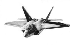 F-22 Pen Sketch by Raptorguy