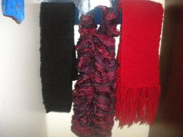 Knitted Scarves by ChippewaOkami
