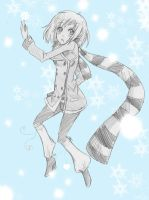 - catch a snowflake today - by capochi