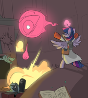 Twilight summons Monoculus by Metal-Kitty