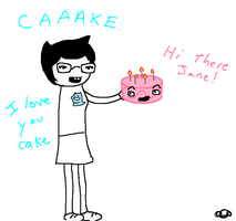Jane and Cake DERP by artfanloveswolves