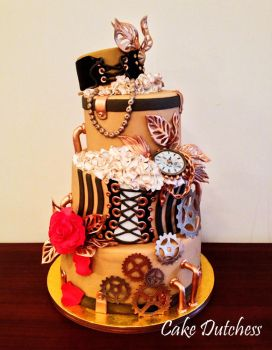 Steampunk Cake by Naera