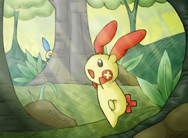 :Seek: Plusle by endless-whispers