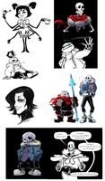 Undertale Art Dump by peachiekeenie