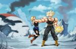 :commission/ USSJ Trunks about to blast it.. by PhantomStudio-Tommy