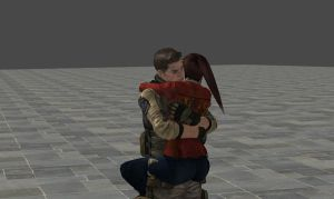 Piers and Claire hug front by Epzaos