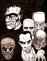 Universal monsters by 21Sandshark
