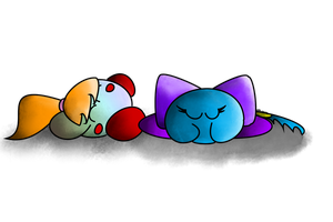 :Request: Sleepy Puffballs by PoyoPoptart
