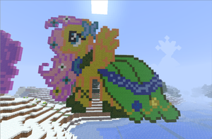 gala fluttershy in minecraft by chappy-rukia
