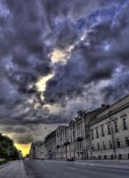 Sunset sky before the storm by Foto-Hunter