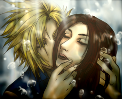 Cloud x Aeris :Never forget... by teamsugoi1