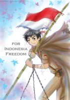 Indonesia-tan Freedom by nycken