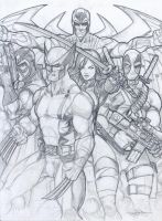 Uncanny X-Force Pencils by Dingodile24