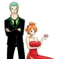 zoro and nami by Ruk1z