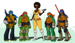 What if: Black April O'Neil - Revised Version by CandyKappa