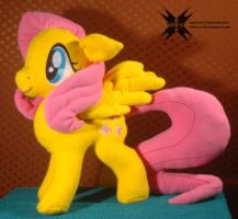 Fluttershy with movable head, ears and wings 2 by Oblitor