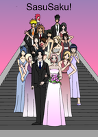 sasusaku wedding by soimmature