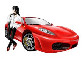 a ferrari and her man by Kashirohato