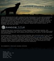 Wolf Sunset Journal CSS by soyrwoo