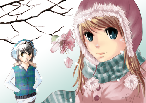winter's last flower . by xMeiji