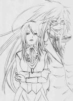 Ruth and Grell -Sketch- by GeeHBerserk