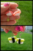 sushi earrings by kikums